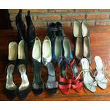 Lote De 11 Zapatos De Mujer Talles 36 Usado Buen Estado