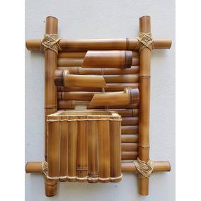 Fonte Água Cascata Bambu 3 Quedas Pendurar Decorar Parede