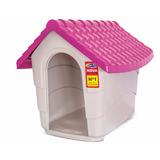 Casa Exhibición Cama Perro Plast Pet New House No.1 Rosa