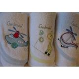 Toallones Con Capucha Bordada Para Bebé Creciendo Pack 3