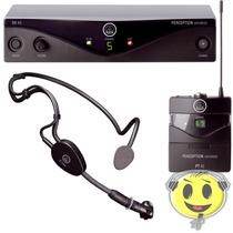 Microfone Sem Fio Headset Akg Pw45 Sport Auricular De Cabeça