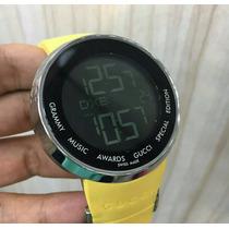 Relógio Digital Gucci Amarelo