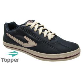 Tênis Sapatênis Topper Dominator L.e Azul Ou Creme