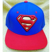 Gorra Beisbol Superman Ver Visera Decorada - 100% Original