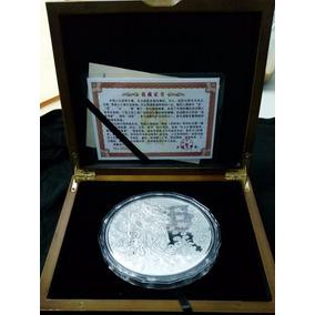 Moneda De Samurai De 1 Kilo Con Chapa De Plata