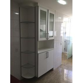 Armário Para Cozinha Com Cristaleira