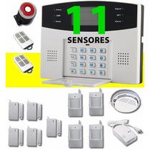 Alarma 11 Inalambrica Con Sensores Chip Celular Y Telefono