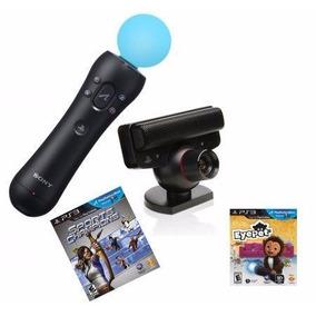 Playstation Move Ps3 Kit: 1 Jogo + Camera + Controle Move