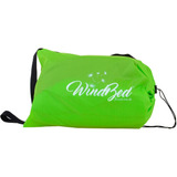 Windbed Fixxar Verde - Inflável 2 Lugares Camping Piscina