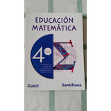Libro Matemática Cpech 4to Medio Editorial Santillana