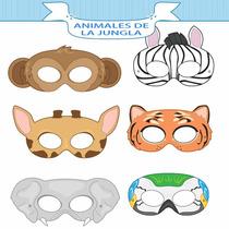 Mascara Antifaz Jungla Chango Cebra Elefante Tigre Jirafa