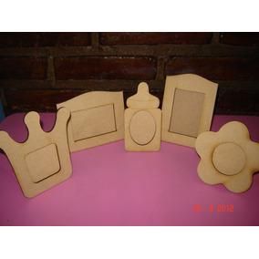 10 Portaretratos Souvenirs Fibrofàcil (mamadera,corona,etc)