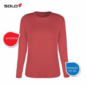Camiseta Proteção Solar Feminino Manga Longa Salmão - Solo