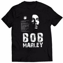 Camisa Camiseta Bob Marley Personalizada Alta Qualidade