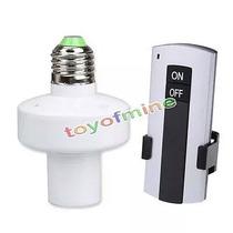 Socket Control Remoto Inhalambricos Para Foco Led Solar Etc.