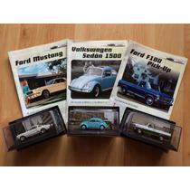 Set 3 Grandes Autos Memorables Mustang Vw Vocho Ford F-100 .