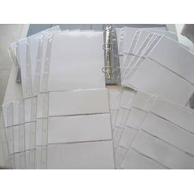 10 Hojas Para Guardar Billetes Blancas 4 Modelos Diferentes
