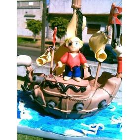 Adorno Para Tortas Infantiles Barco Pirata