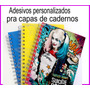 Adesivos Personalizados Para Capas De Cadernos