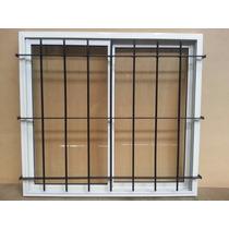 Ventana Aluminio Bco 150x150 Vidrio 4 Mm Reja Y Mosquitero