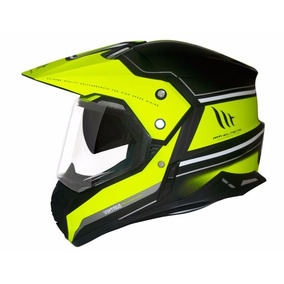 Capacete Mt Sv Duo Sport Cross Vintage Matt Black/yellow