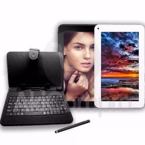 Combo Tablet 7 Qjo Android Estuche Teclado, 8gb 2 Camaras