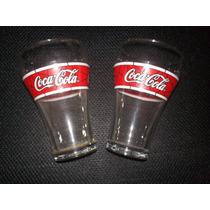 Dos Vasos De Colección De Coca Cola Serigrafia Sin Uso Leer