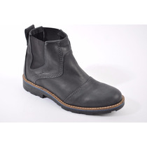 Zapato Zurich 5601. Borcego De Cuero Caña Corta. Elastizado.
