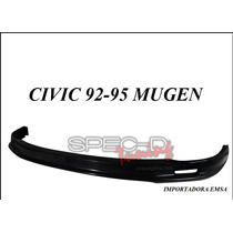 Lip Spoiler Delantero Honda Civic 92 - 95 Mugen Uretano