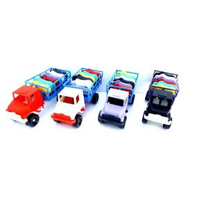 15 Caminhões Com 6 Bois Brinquedo Cad Plástico Varias Cores