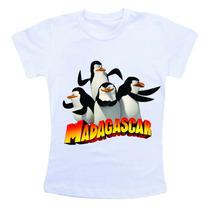 Camiseta Infantil Madagascar Bn320