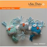 Buhos Crochet Amigurumis Souvenir Nacimiento Bautismo X10