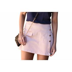 Saia Shorts Tecido Cotton Satin Fotos Reais!!!!