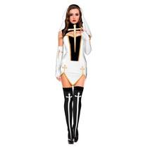 Disfraz Mujer Monja Mala Halloween Adulto Monja Malvada