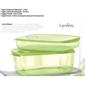 Tupperware- Cristalwave Retang + Premier Freezer/ Microondas