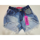 Short Jeans Hot Pants Lindo Barato Com Lycra Feminino
