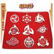 Naruto Sharingan Set 9 Collar Envio Gratis Llavero Shippuden