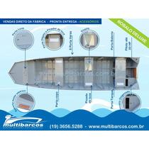 Barco De Alumínio Robalo Deluxe 500