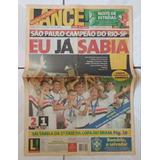 Jornal Lance 08/03/01 São Paulo Campeão Rio-sp Spfc Tricolor