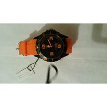 Reloj Para Dama O Caballero Excelente Calidad Color Naranja