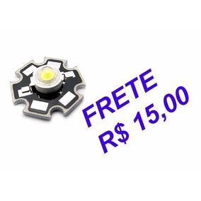 Super Led 3w- Branco Frio - 6500k - 220 Lumens C/ Dissipador