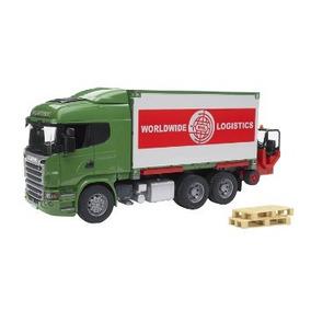 Juego Bruder Juguetes Scania Carga De Camiones De La Serie