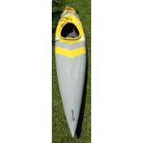 Kayak Fibra 4.30 M X 0.6 M Con Remo De Aluminio-plastico