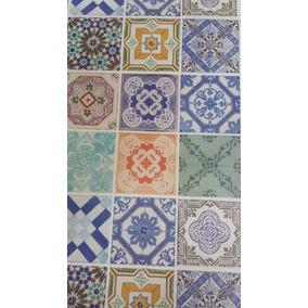 Adesivo Papel De Parede Azulejo Portugues 45 Cm X 10 Mt