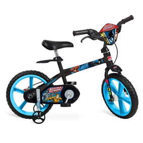 Bicicleta Infantil Menino Aro 14 Liga Da Justica Bandeirante