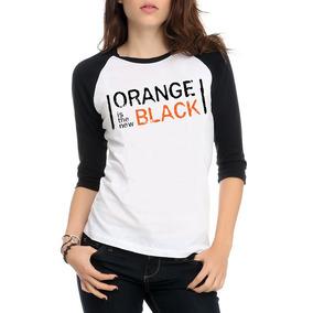Camiseta Orange Is The New Black - Oitnb - Raglan