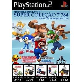 Emulador Pc & Ps2 C/ 7784 Jogos Super Nintendo,mega,master