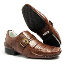 Sapato Social Masculino Stilo Samello Couro Leg Alcalay Orig