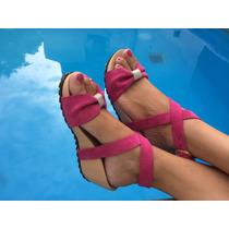 Sandalias De Cuero Artesanales - Modelo Perla Rosa