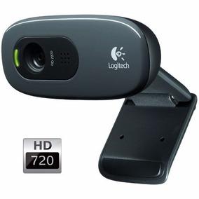 Webcam Logitech C270 Usb 720p Hd 30fps Com Microfone